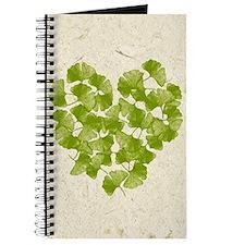 Ginkgo Leaf Heart Journal