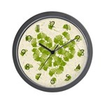 Ginkgo Leaf Heart Wall Clock