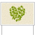Ginkgo Leaf Heart Yard Sign