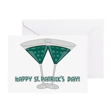 Irish Martini Greeting Card