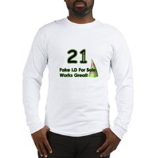 Fake ID Humor Long Sleeve T-Shirt