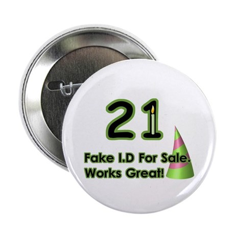 """Fake ID Humor 2.25"""" Button (10 pack)"""