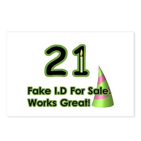 Fake ID Humor Postcards (Package of 8)