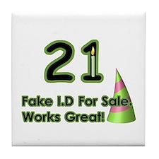 Fake ID Humor Tile Coaster