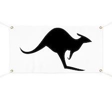australian kangaroo black log Banner