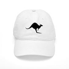 australian kangaroo black log Baseball Cap
