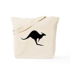 australian kangaroo black log Tote Bag