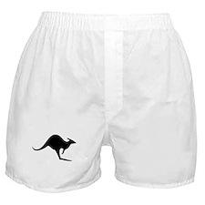 australian kangaroo black log Boxer Shorts