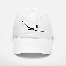 black glider logo sailplane Baseball Baseball Cap