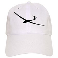 black glider logo sailplane Baseball Cap