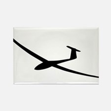 black glider logo sailplane Rectangle Magnet