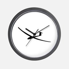 black glider logo sailplane Wall Clock