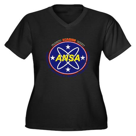 ANSA Flight Crew Distress Women's Plus Size V-Neck