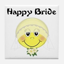Happy Bride Tile Coaster