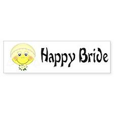 Happy Bride Bumper Bumper Sticker