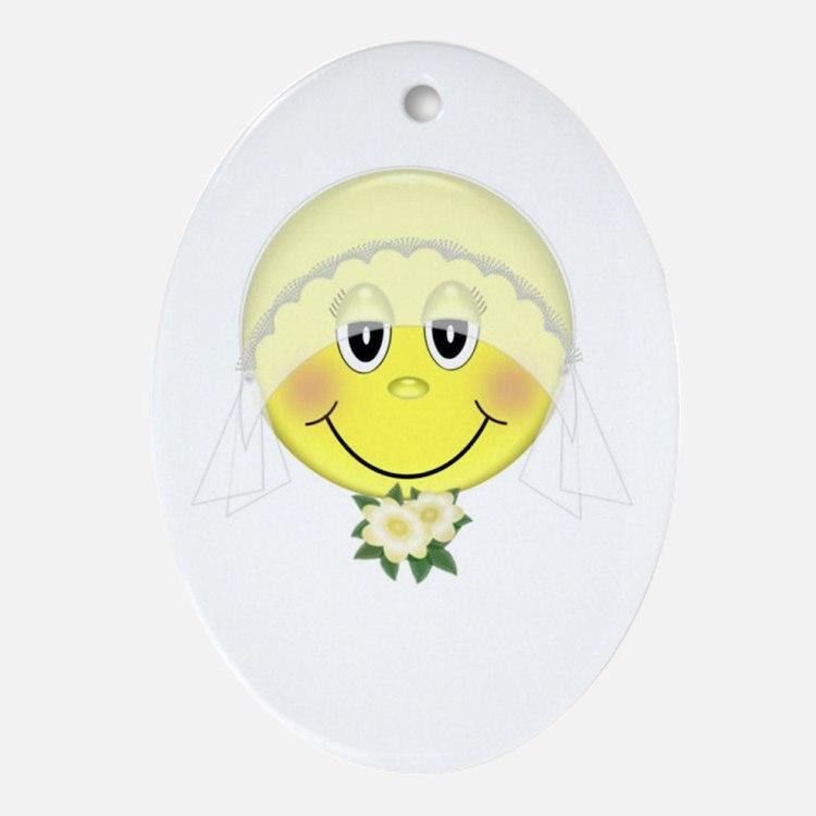 Happy Bride Oval Ornament