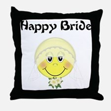 Happy Bride Throw Pillow
