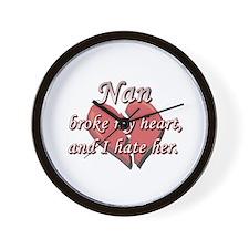 Nan broke my heart and I hate her Wall Clock