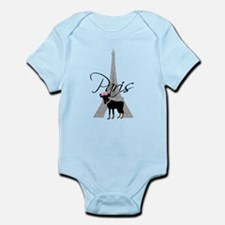 Le petit chien Paris Infant Bodysuit