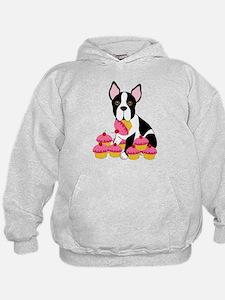 Boston Terrier with Cupcakes Hoodie