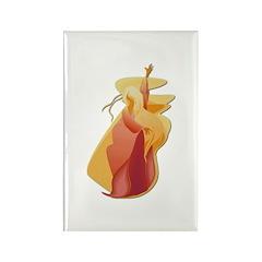 Fire Goddess Rectangle Magnet (10 pack)