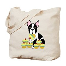 Boston Terrier Cupcakes Tote Bag
