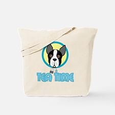 Boston Terrier Tea Party Tote Bag