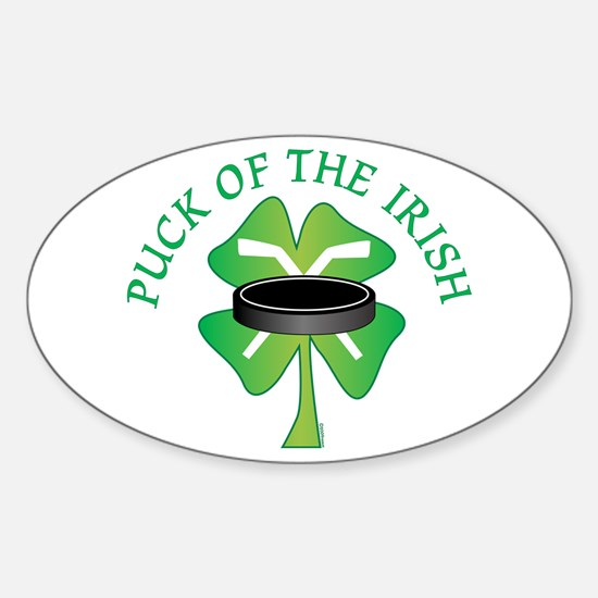Puck of the Irish Oval Decal