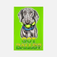 Weimaraner Got Balls? Rectangle Magnet