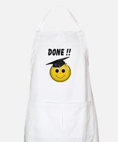 Smiley Graduate BBQ Apron