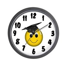 Smiley Graduate Wall Clock