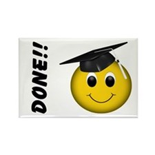 Smiley Graduate Rectangle Magnet