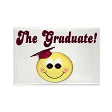 Graduation Smiley Face Rectangle Magnet