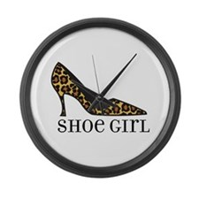 shoe girl Large Wall Clock