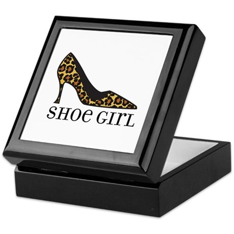 shoe girl Keepsake Box