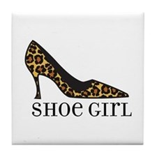 shoe girl Tile Coaster