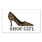 shoe girl Rectangle Sticker