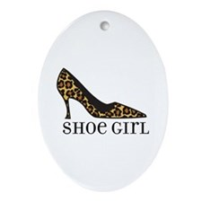 shoe girl Oval Ornament