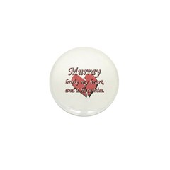 Murray broke my heart and I hate him Mini Button (
