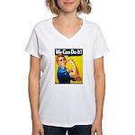 Vintage Rosie the Riveter Women's V-Neck T-Shirt