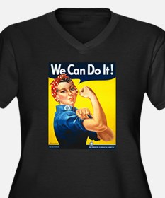 Vintage Rosie the Riveter Women's Plus Size V-Neck