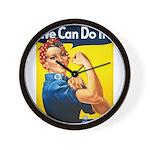 Vintage Rosie the Riveter Wall Clock