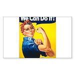 Vintage Rosie the Riveter Rectangle Sticker