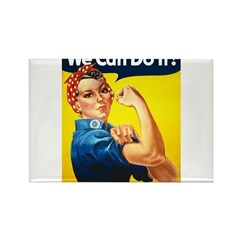 Vintage Rosie the Riveter Rectangle Magnet