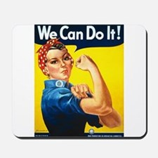 Vintage Rosie the Riveter Mousepad