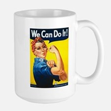 Vintage Rosie the Riveter Large Mug