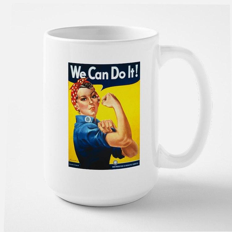 Vintage Rosie the Riveter Large Mug