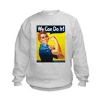 Vintage Rosie the Riveter Kids Sweatshirt