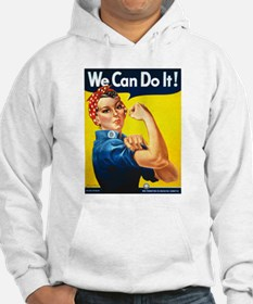 Vintage Rosie the Riveter Hoodie Sweatshirt