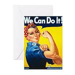 Vintage Rosie the Riveter Greeting Cards (Pk of 20